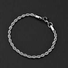 Men Women Charm Infinity Stainless Steel Bangle Punk Cuff Silver Chain Bracelet