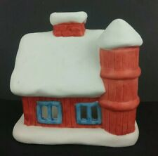 """Colonial Candle of Cape Cod """"Barn Tealite House"""" #3259 Ceramic Votive Holder"""