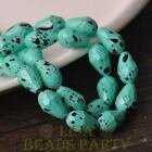 New 8pcs 15X10mm Teardrop Faceted Dots Loose Glass Spacer Beads Lake Green
