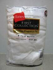 Nos ~ Factory Sealed 6 Pair Pack Vintage Hanes Briefs First Collection Size 38