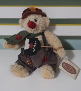 THE GANZ COTTAGE TEDDY BEAR 26CM TAGS LORRAINE CHIEN CC11120 WINTER