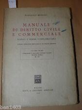 MESSINEO Francesco Manuale di diritto civile e commerciale Giuffrè 1950