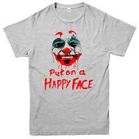 Joker T-shirt, Put On A Happy Face, Joaquin Phoenix, Actor Gift Top