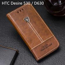 Para HTC Desire 530 teléfono caso cubierta de Cuero Abatible Billetera Tarjeta ranura HTC Desire 630