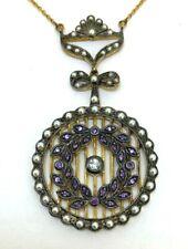 Amethyst Necklace Amethyst, Saat-Perlen & Diamond 925er Silver