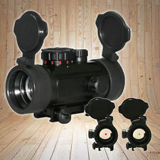 Holographic Reflex Red Green Dot Sight Scope w/ Flip-up Caps & Free Mount Rails