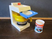 Fisher Price Fun with Food coffee maker machine can pot breakfast filter tray