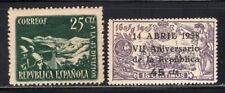 Spain 1938, 2 Better Stamps MNH #586 + #602