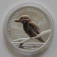 """Australia: dólar 1 2007 """"Kookaburra"""", sello brillo"""