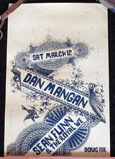 2 ORIGINAL RARE Dan Mangan Sean Flinn Gig Poster Ornate REALLY COOL! Portland