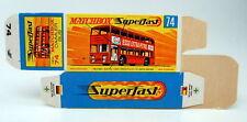 "Matchbox Superfast 74A Daimler Bus leere originale ""H"" Box"
