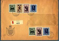 LIECHTENSTEIN - 1953 - Lettera con es. della serie Quadri della Galleria - (MR)
