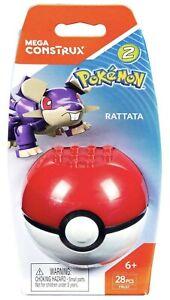 Mega Construx Pokemon Series 2 Rattata New In Packet Uk Seller 28pcs 🇬🇧