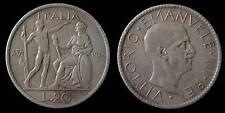 pci904) Regno Vittorio Emanuele III  lire 20 1928 Littore Patina