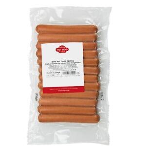 HOT DOG WORLD  -BEEF Hot Dog Wurst 12 x 60 g, Rindswürstchen, 100% Rind
