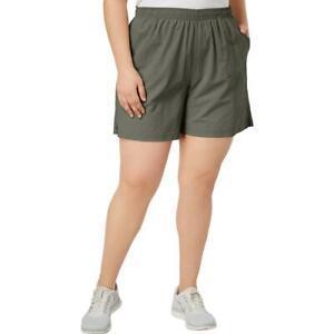 Columbia Sportswear Womens Green Fishing Shorts Athletic Plus 1X  5010