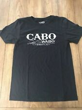 Cabo Wabo Tequila Men's Black S/S Front & Back Graphic Tee Shirt Size Small