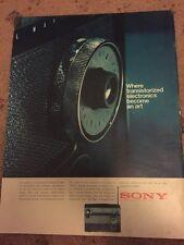 Vintage 1960s Sony Transistor radio Electronics Print Advertisement Rothmans