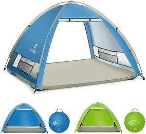 4 to 5 person pop-up Camping Beach Shade Tent UPF 50+ Canopy Outdoor travel