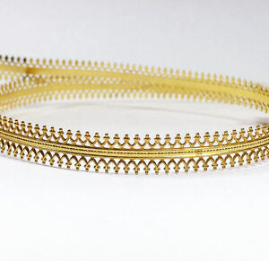 24 Inch (61cm)x 7.5mm Width Brass Strip Gallery Decorative Ribbon Pattern wire