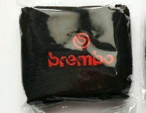 Polsino Moto Serbatoio Olio Freno Frizione logo Brembo Rosso Nero Grande