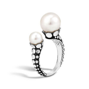 John Hardy Dot Pearl Ring in Sterling Silver Size 7