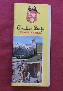 1959 CANADIAN PACIFIC RAILWAY RAILROAD TIME TABLE BROCHURE DOMINION TRAIN NICE