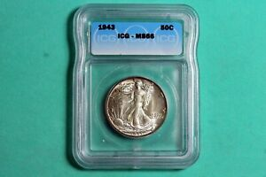 1943 ICG MS66 Walking Liberty Half Dollar #B25296