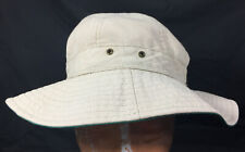 L.L. Bean Vintage Cream Ivory Bucket Hat Size Small Fitted Hat *70s EXCELLENT!