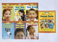 Human Body Science Vocabulary Readers Childrens Books and Teaching Guide Lot 6