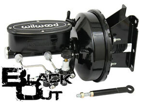 1973-87 CHEVY & GMC C10 C20 TRUCK POWER BRAKE BOOSTER - WILWOOD BLACK OUT SERIES