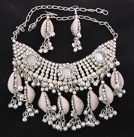 Statement Necklace Choker Bib Shell Gypsy Boho Hippie Festival Fashion Jewelry