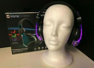 Wireless Bluetooth Color Changing Headphones iHome ib91  - Open Box New - *Read*