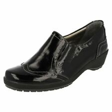 Wedge Patternless Patent Leather Casual Heels for Women