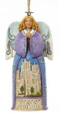Jim Shore Heartwood Creek Angel With Cathedral Church Ornament #4042973 new box