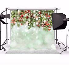 Seamless Christmas 10x10ft Photography Backgrounds Xmas Decors Vinyl Backdrops