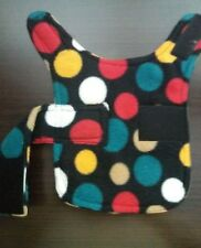 dog coat. fleece jacket .size xs.  Multi coloured spots