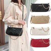 Fashion PU Leather Messenger Bag Women Chain Casual Shoulder Handbag Purse Totes