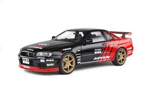 1:18 1999 Nissan Skyline R34 GTR -- ADVAN Red/Black Drift -- Solido