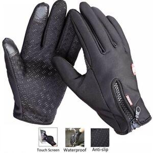 Waterproof Gloves Touch Screen Winter Warm Gloves Anti-slip Thermal Windproof UK