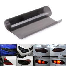 "Gloss Lights Black Smoke Vinyl Film Tint 16""X60"" Headlight Taillight Wrap Covers"