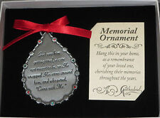 Memorial Ornament God Saw Him Getting Tired Teardrop Christmas Dad Grandpa Broth
