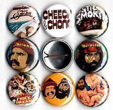 Cheech and Chong 8 NEW button pin badges up in smoke still smokin