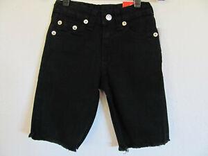 True Religion Geno Relaxed Slim Cut Off Shorts-Black- Boy's Size 5- NWT $59