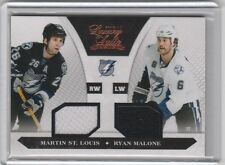 MARTIN ST LOUIS RYAN MALONE DUAL 2C GAME USED JERSEY #/599 2010-11 LUXURY SUITE