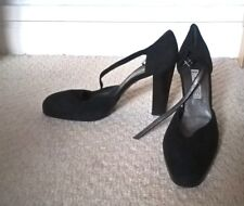 CASADEI PLATFORM COURT BLACK SUEDE LEATHER PUMPS SHOES EUR 40 USA 9.5 UK 6.5-7