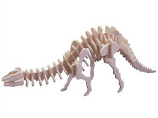 3D Wooden Model Puzzles Assembly Diy Education Childs Toys Apatosaurus Dinosaur