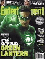 Entertainment Weekly Magazine Green Lantern Ryan Reynolds True Blood Lady Gaga