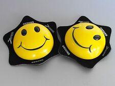 Knieschleifer Kniepads Knieslider für Lederkombi OXFORD Smiley gelb