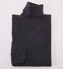 NWT $995 CRUCIANI Charcoal Gray 100% Cashmere Turtleneck Sweater Eu 54 (XL)